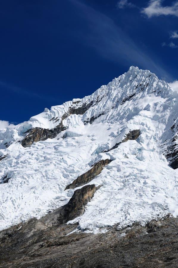 Peru, na Cordillera Blanca Santa Wędrówka Cruz obraz stock