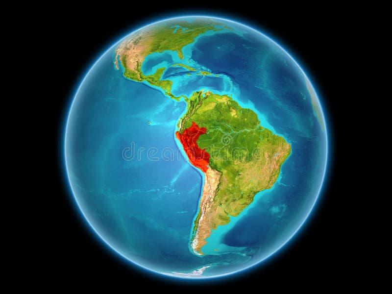 Peru op aarde royalty-vrije illustratie