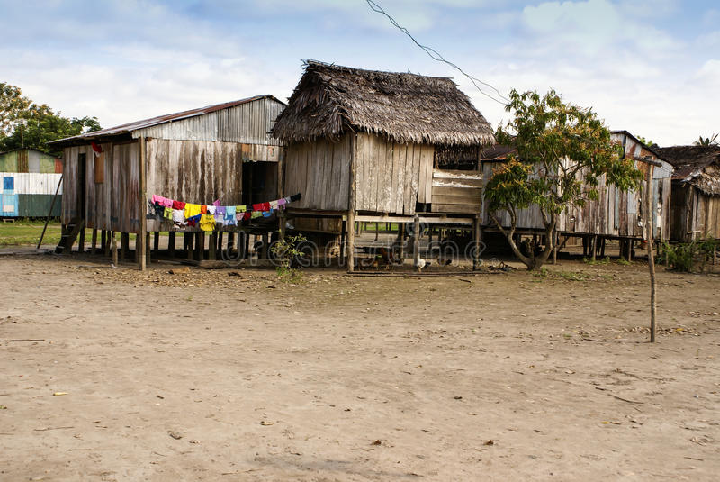 Peru peruanAmazonas landskap. Den typiska fotogåvan in arkivbild