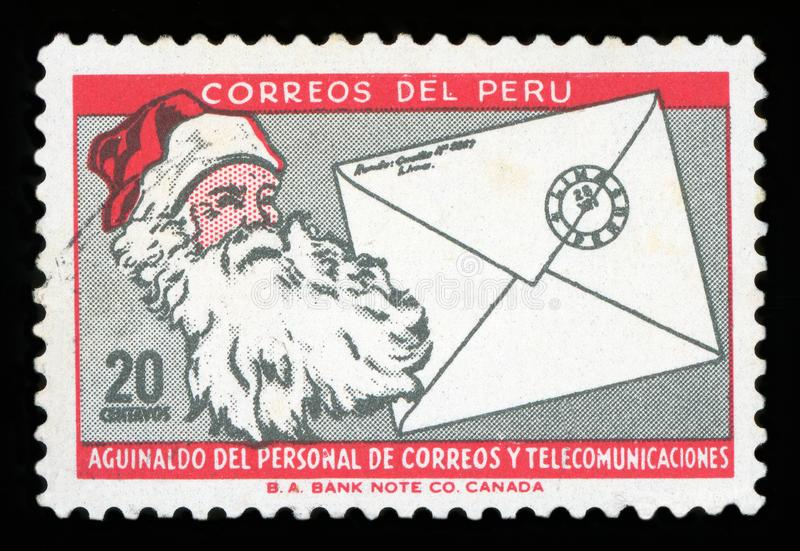 PERU - Postge znaczek obraz stock