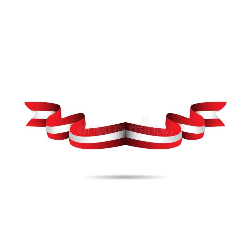 Peru Ribbon Flag Vector Template-Ontwerpillustratie stock illustratie