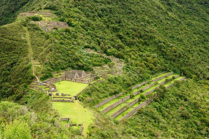 Peru, riuns de Choquequirao imagem de stock