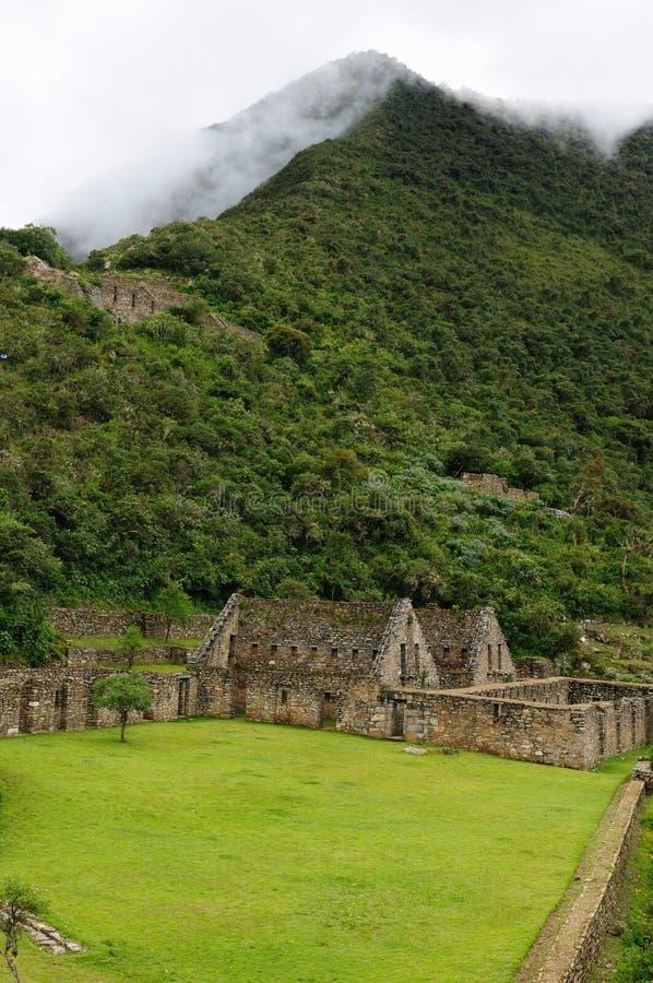 Peru, ruínas remotas do Inca de Choquequirau perto de Cuzco foto de stock