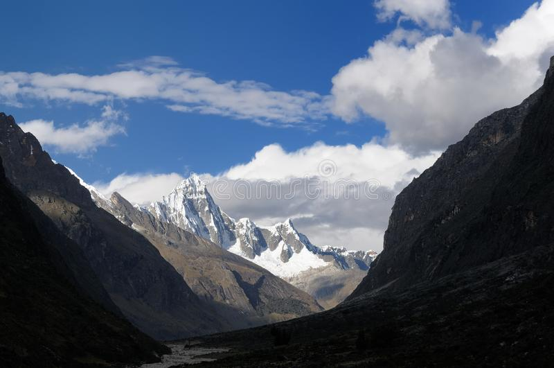 Peru, Santa Cruz Trek on the Cordillera Blanca stock photography