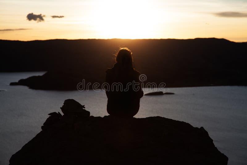 Peru Sunset stockfoto