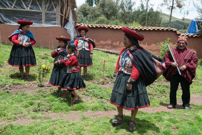 Peru, Traditionl Peruvian People, Travel royalty free stock photography