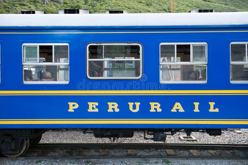 Peru Travel, train de Perurail, chemin de fer image stock