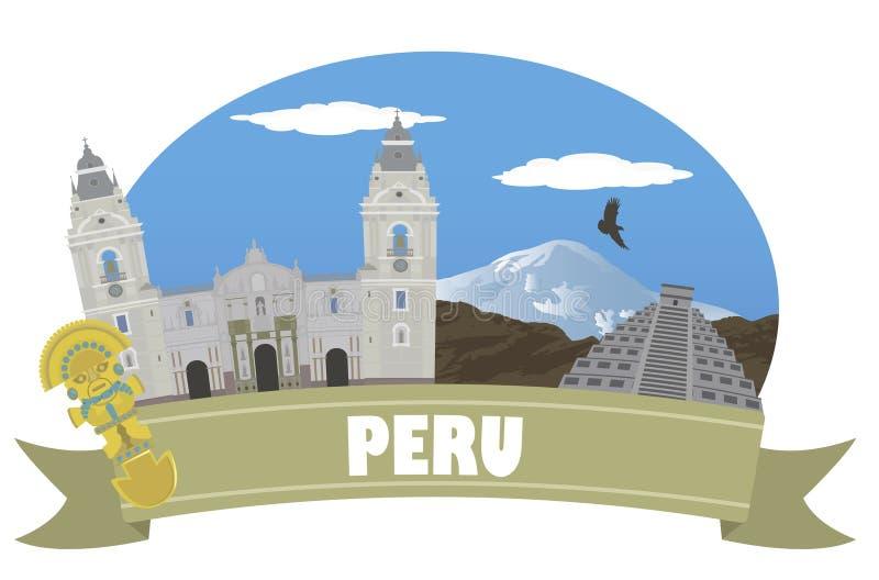 peru Turismo e curso ilustração royalty free