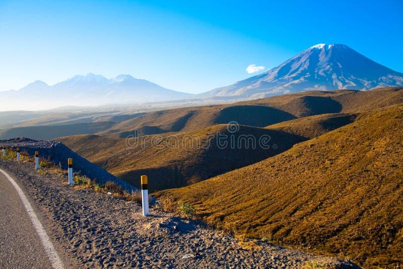 Peru, Volcano El Misti stock foto