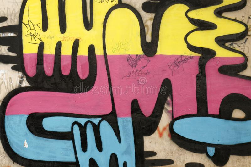 Peruanische Graffiti, Graffiti als Form der Identität Cercado De Lima stadt lizenzfreie stockbilder