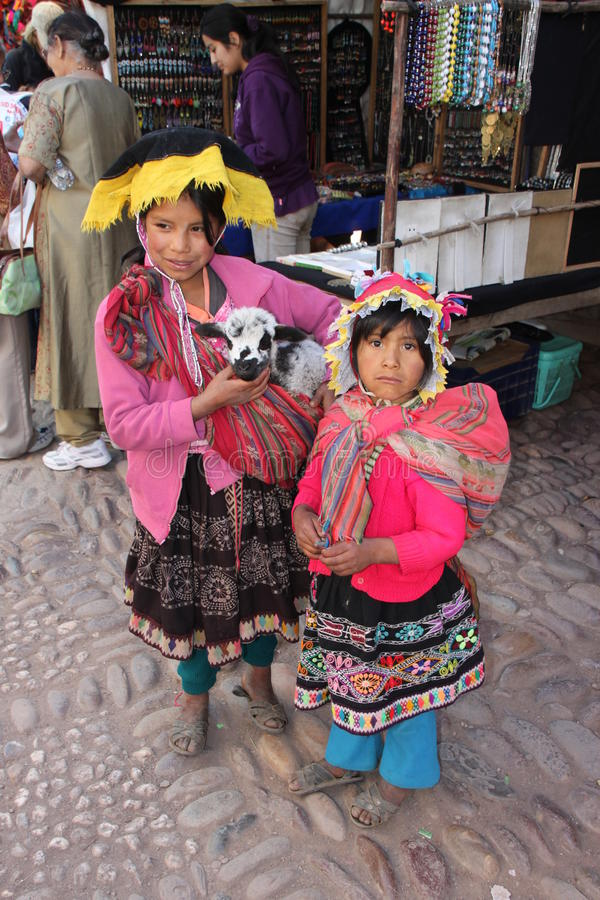Peruanische Kinder lizenzfreie stockbilder