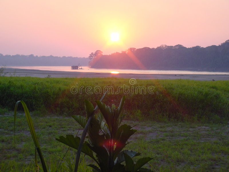 Peruanischer Sonnenuntergang lizenzfreie stockfotografie