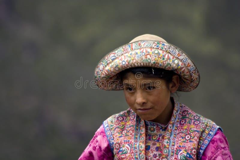 Peruanisches Mädchen lizenzfreie stockbilder