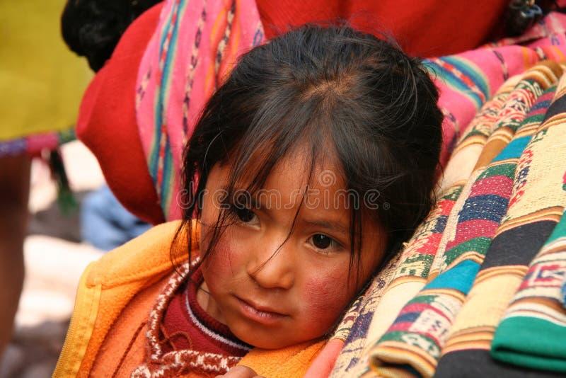 Peruanisches Mädchen stockfotos