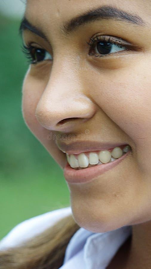 Peruanisches Mädchen-Gesicht lizenzfreies stockfoto