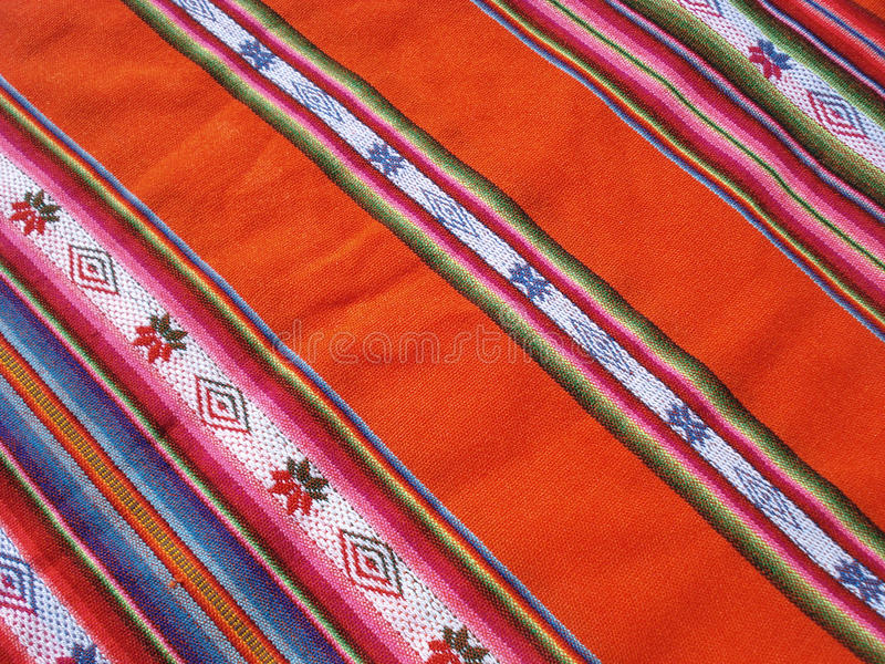 Peruanisches textil stockfotos