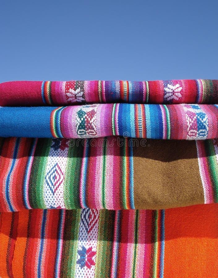 Peruanisches textil stockbilder