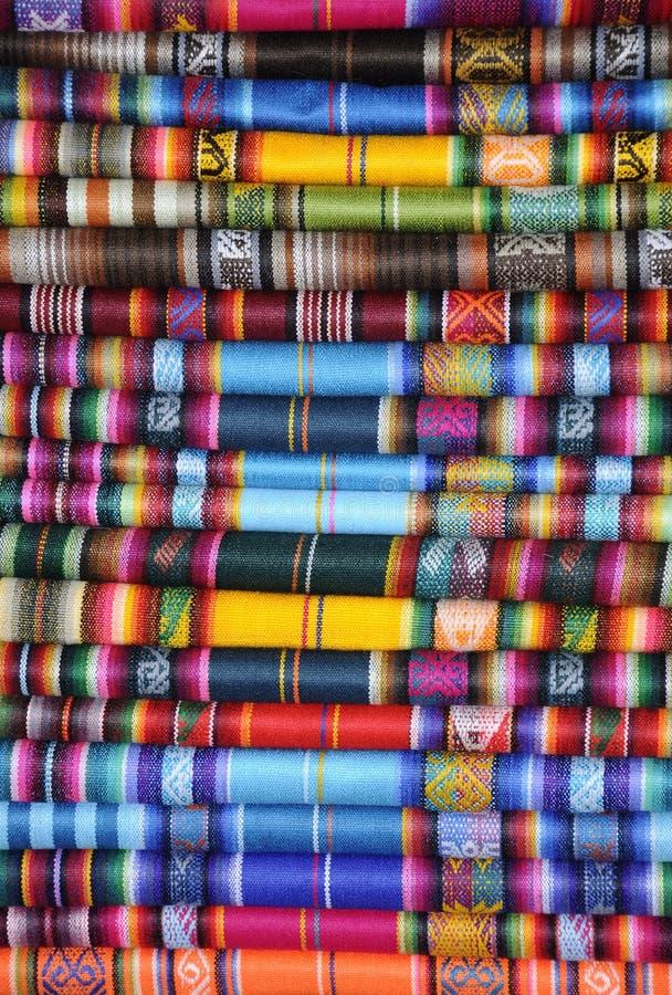 peruansk textil arkivbild