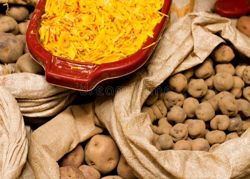 Peruanska potatisar arkivfoton