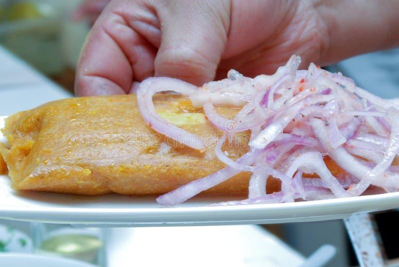Peruanska Tamales arkivfoto