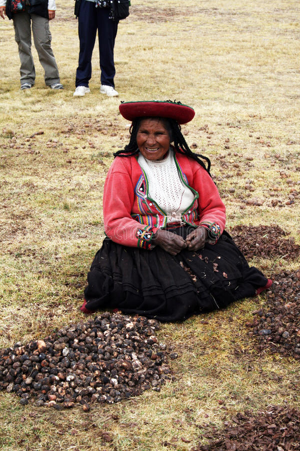 Peruanskt leende royaltyfria bilder