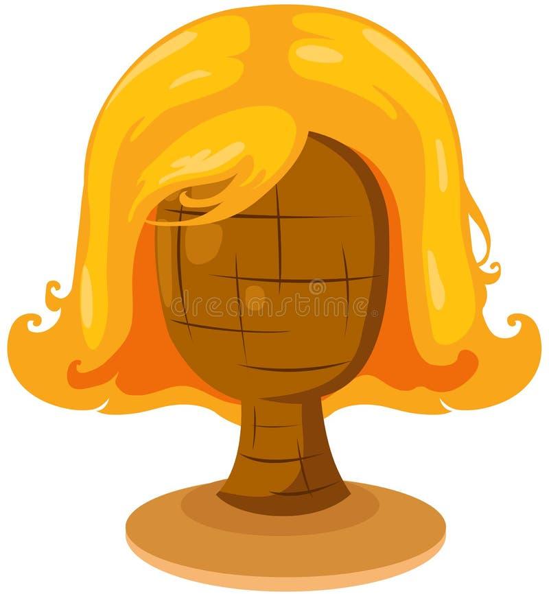 peruca loura na cabeça do mannequin ilustração royalty free