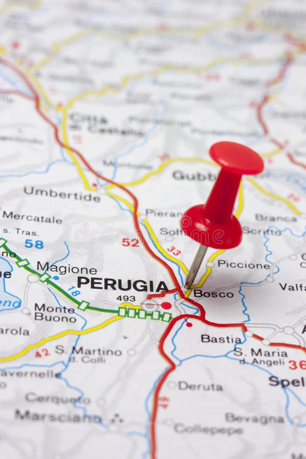 Karte Von Perugia Italien Stock Fotos Laden Sie 16 Royalty Free