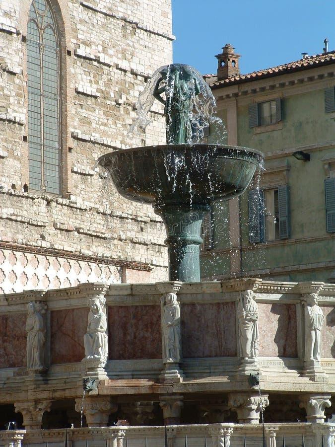 Perugia fountain major stock photos