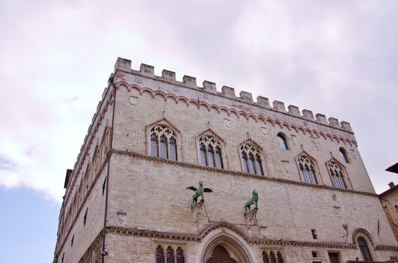 Perugia i Tuscany i Italien arkivbild