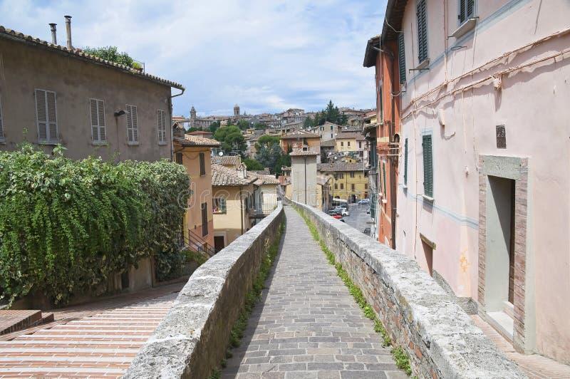 perugia panoramiczny widok Umbria zdjęcia royalty free