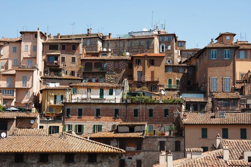 Perugia, vecchie case italiane fotografie stock libere da diritti