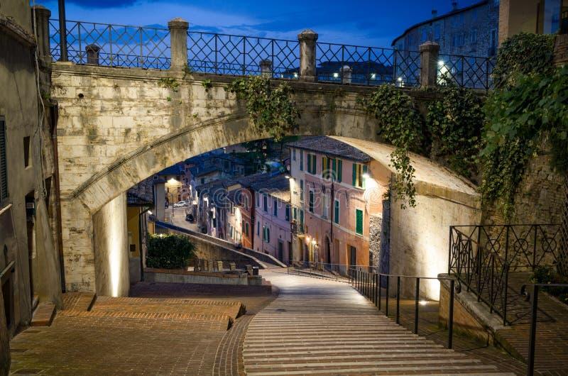 Perugia via Appia royaltyfri foto