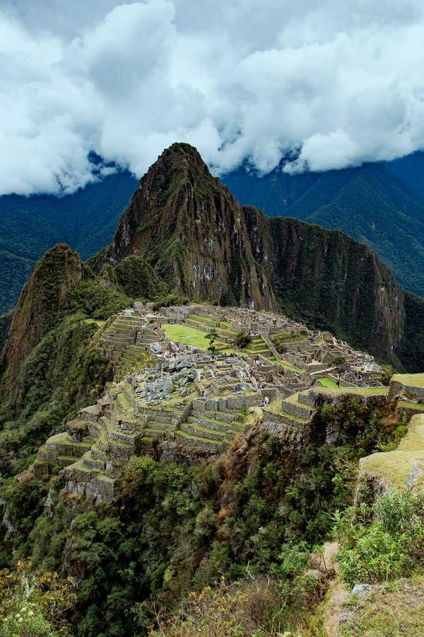 PeruMachu Picchu, forntida Inca` s fördärvar, arkivfoton
