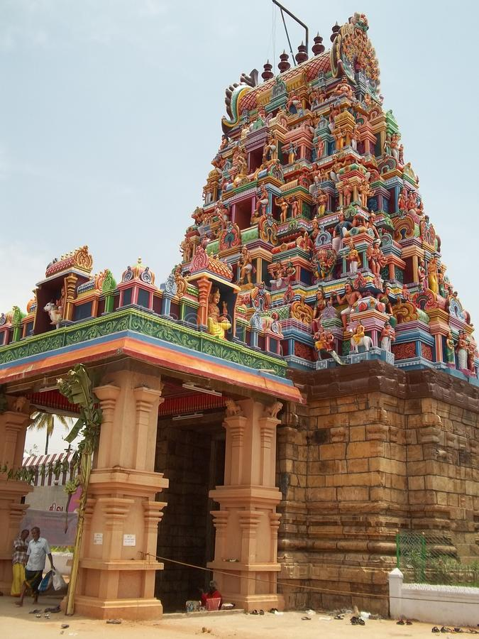 Perur Temple in Coimbatore. This is Perur Pattisvarar Temple which is located in Coimbatore. It is an ancient temple stock image