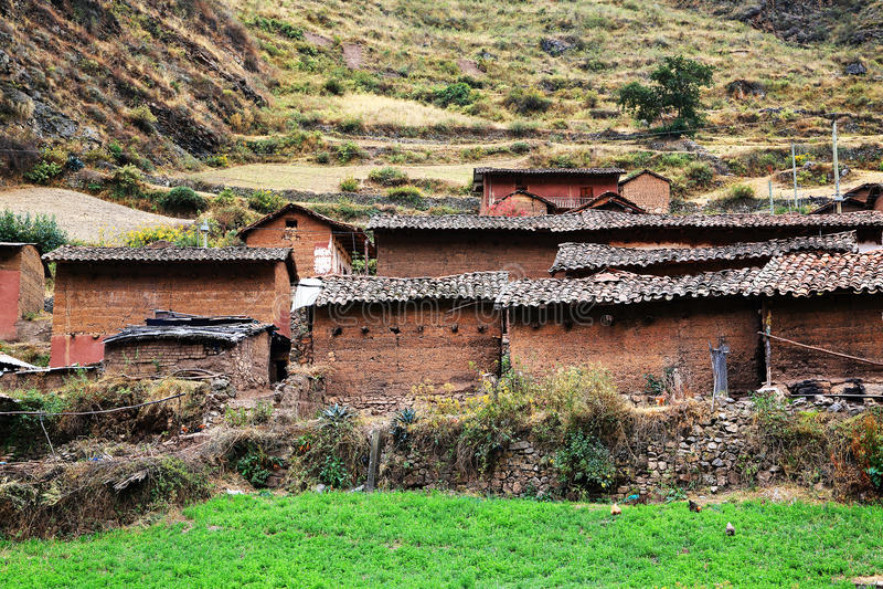 Peruviaans bergdorp royalty-vrije stock fotografie