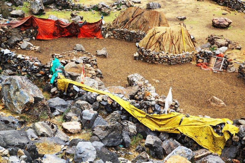 Peruviaans bergdorp royalty-vrije stock afbeelding