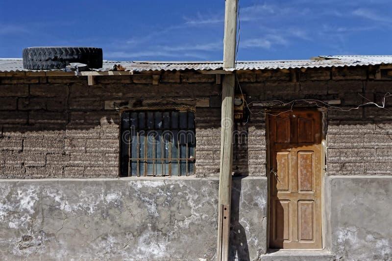 Peruviaans dorpshuis stock fotografie