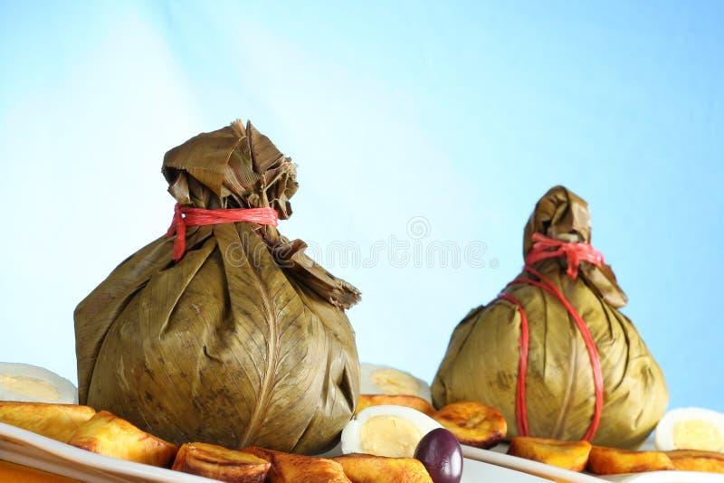 Peruviaans Voedsel Genoemd Juane stock foto
