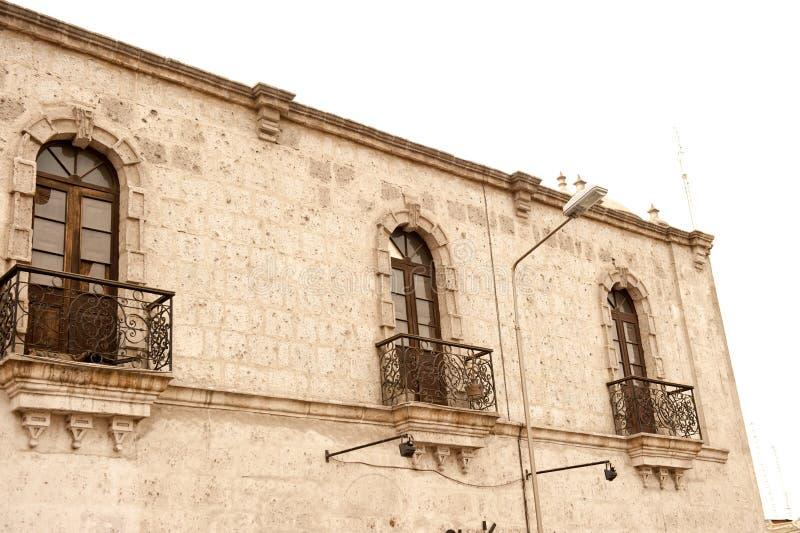 Peruviaanse architectuur royalty-vrije stock afbeelding