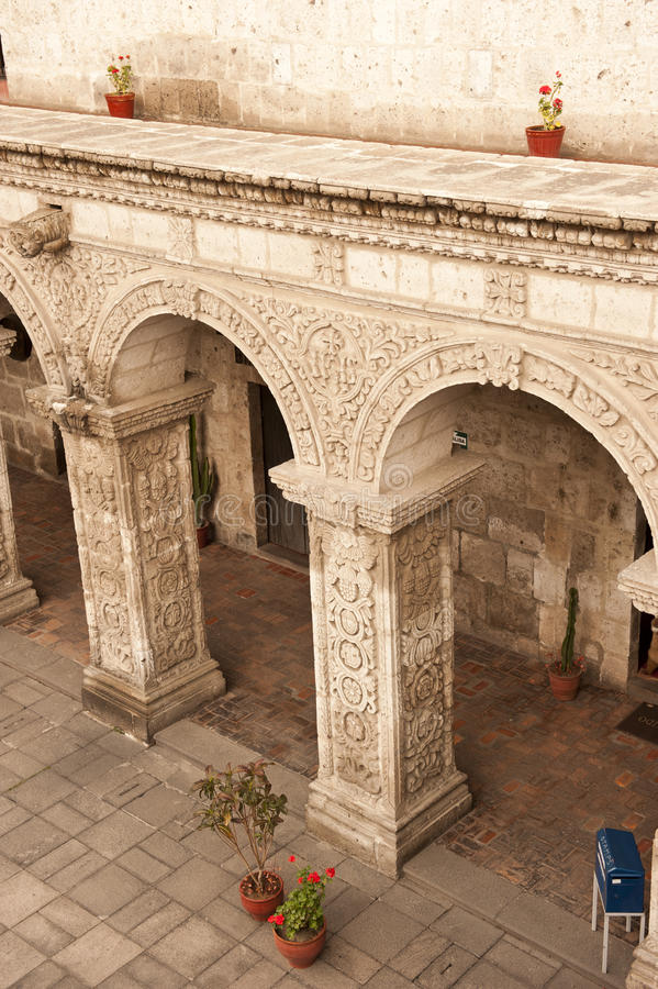 Peruviaanse binnenplaats royalty-vrije stock fotografie