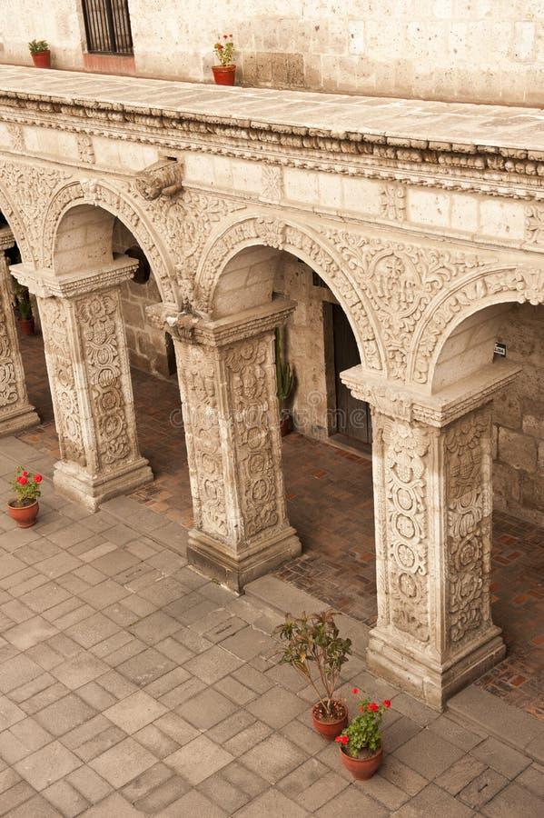 Peruviaanse binnenplaats stock afbeelding