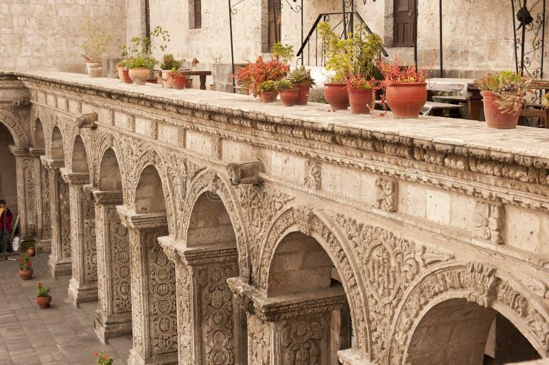 Peruviaanse binnenplaats royalty-vrije stock afbeelding