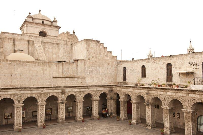 Peruviaanse binnenplaats stock fotografie