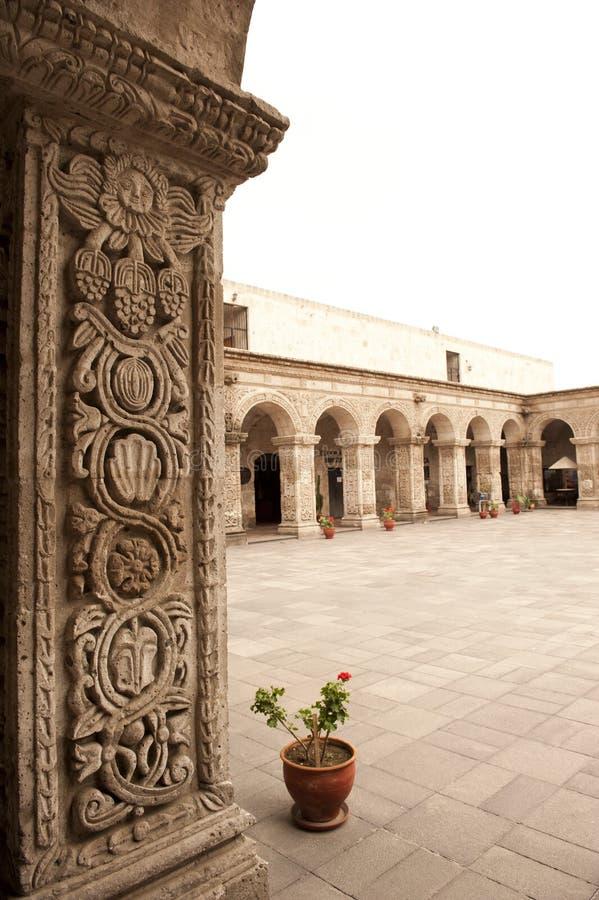Peruviaanse binnenplaats royalty-vrije stock foto's