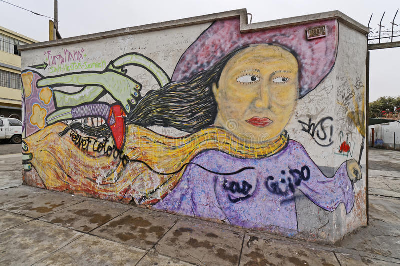 Peruviaanse graffiti stock foto