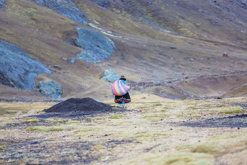 Peruviaanse mensen royalty-vrije stock fotografie