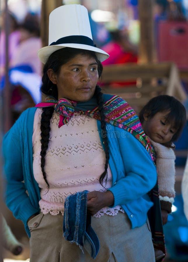 Peruviaanse moeder stock foto