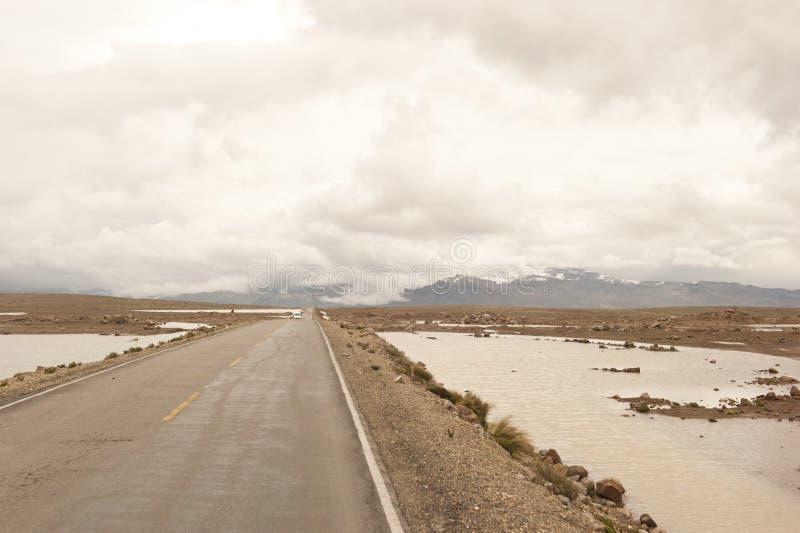Peruviaanse rijweg royalty-vrije stock afbeelding