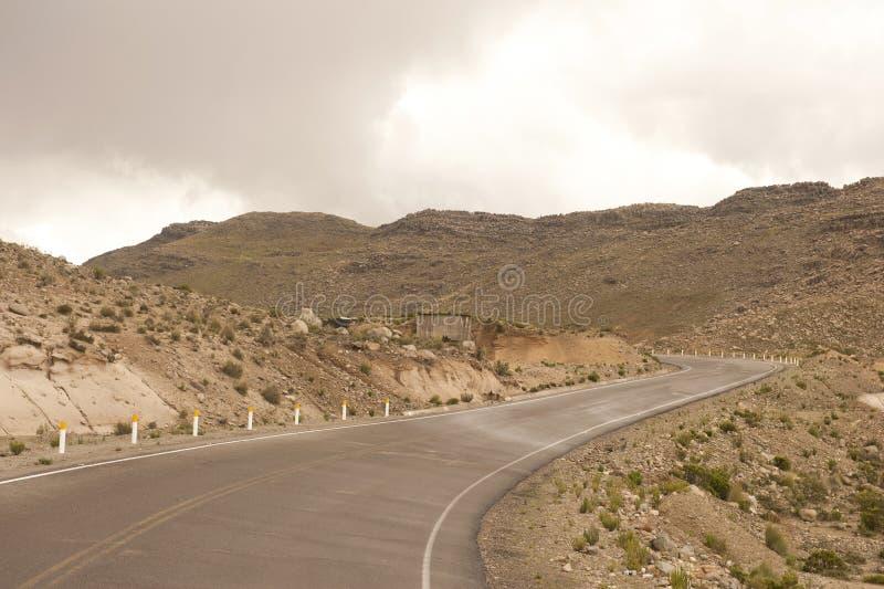 Peruviaanse rijweg royalty-vrije stock afbeeldingen