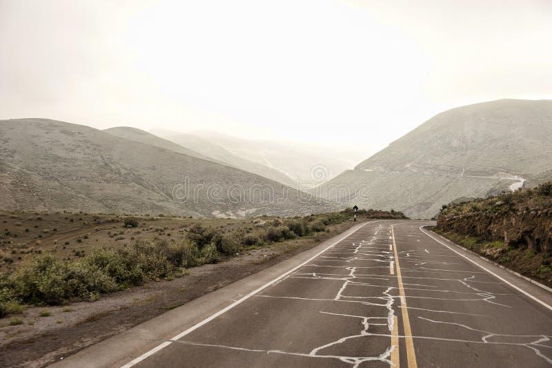 Peruviaanse Rijweg in openlucht stock afbeelding